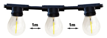 Kobi Mimosa LED Light Bulb Chain 10xE27 10m Black