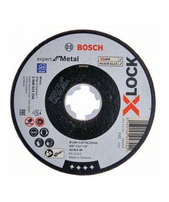 Griešanas asmens Bosch X-Lock Inox Metal Cutting Disc 125x1mm
