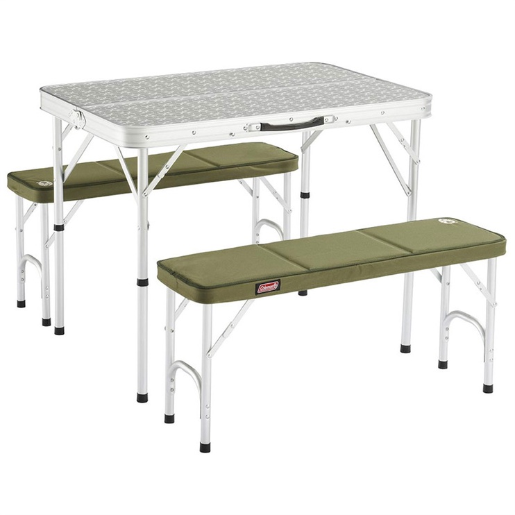 Coleman pack-away table & bench 205584