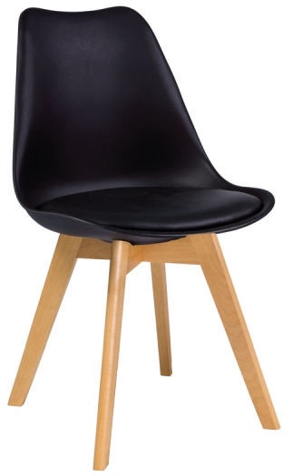 Ēdamistabas krēsls Signal Meble Kris Beech Black, 1 gab.
