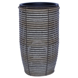 Home4you Wicker Flowerpot D30x60cm Grey