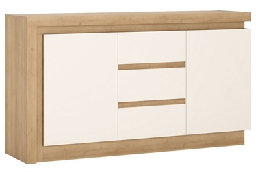 Meble Wojcik Lyon LYOK01 Chest Of Drawers White/Riviera Light Oak