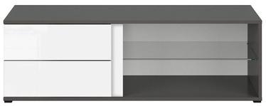ТВ стол Black Red White Graphic, белый/серый, 1200x486x385 мм