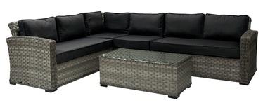 Комплект уличной мебели Home4you Geneva Dark Grey, 1 - 6 места