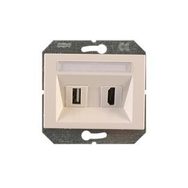 Vilma Telecommunication Socket HDMI/USB XP500 White