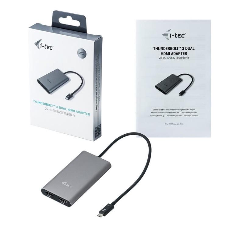 i-Tec Thunderbolt 3 Dual HDMI Video Adapter