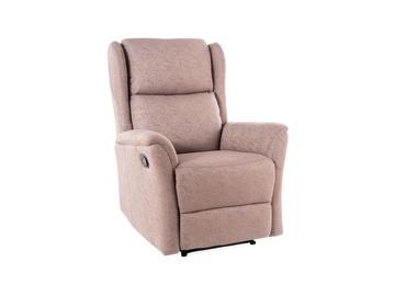 Atzveltnes krēsls Signal Meble Zeus, brūna, 74x93x108 cm