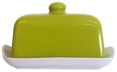 Cesiro Butter Dish With Green Lid 17x12cm