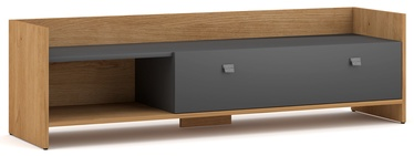 ТВ стол Vivaldi Meble Open, серый/дубовый, 1400x370x400 мм