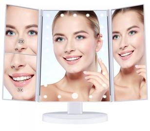 Kosmētiskais spogulis, ar gaismu, stāvošs, 34.5 cm x 28 cm