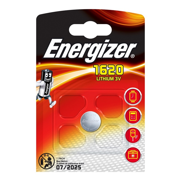 Energizer CR1620 Lithium 3V Battery