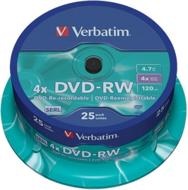 Verbatim DVD-RW 4.7GB 4x 25pcs 43639