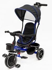 Трехколесный велосипед EcoToys X-174-BL, синий/черный
