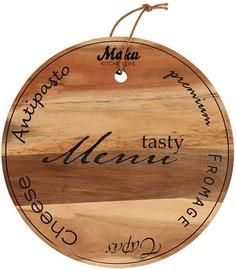 Разделочная доска Maku Tasty Menu Cheese, коричневый, 190 мм x 190 мм