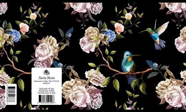 Jānis Roze Notebook JR9 60 Pages Birds