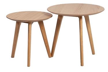 Kafijas galdiņš Home4you Helena Oak, 500x500x450 mm