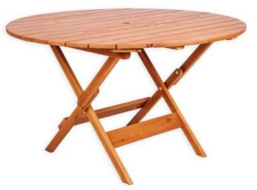 Садовый стол Folkland Timber Canada 068, коричневый, 125 x 125 x 73 см