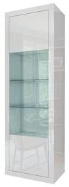 Шкаф-витрина Tuckano Sparkle, белый, 63x41x195 см