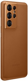 Samsung Leather Back Case For Samsung Galaxy S21 Ultra Brown