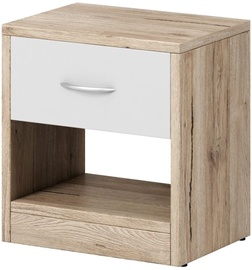 Ночной столик WIPMEB Naka 1S, дубовый, 39x28x41 см
