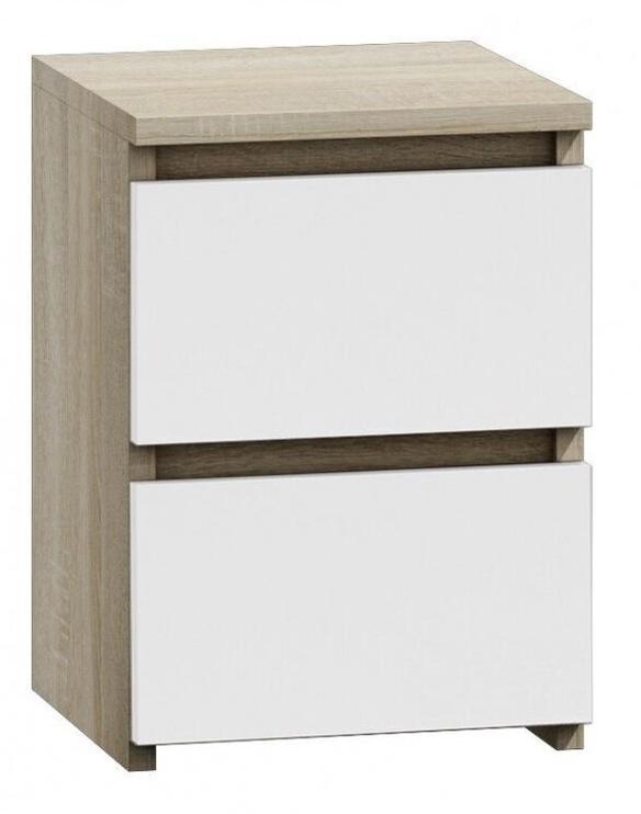 Naktsgaldiņš Top E Shop M2 Malwa, balta/ozola, 40x30x40 cm