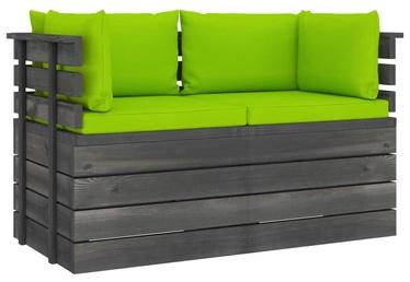 Садовый диван VLX 3061742, зеленый/серый