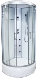 Vento Rome Bianco Massage Shower 90x220cm