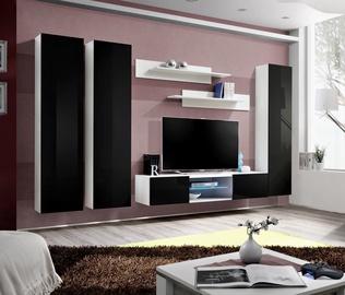 ASM Fly P1 Living Room Wall Unit Set Black/White