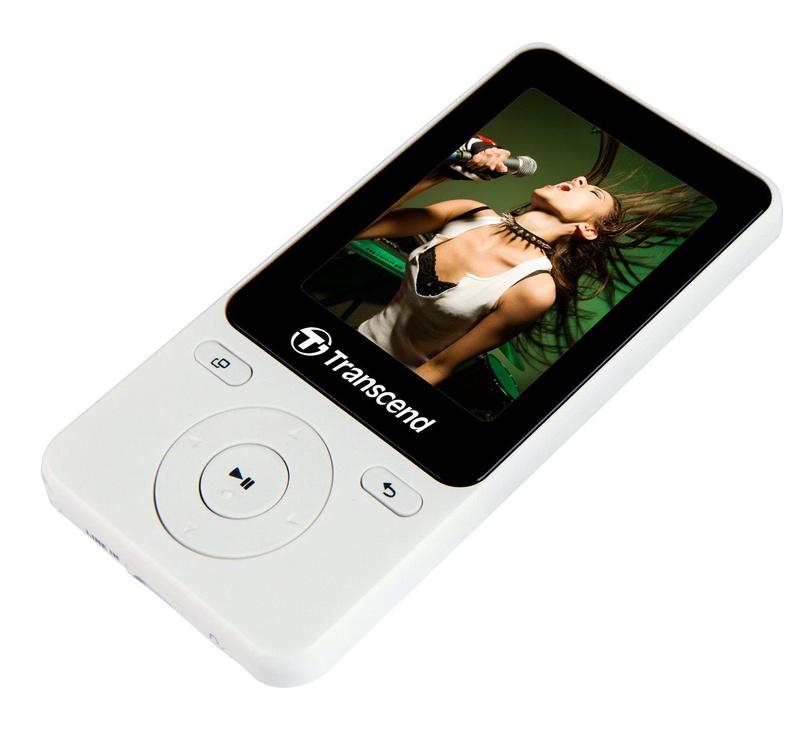 Mūzikas atskaņotājs Transcend MP710 White, 8 GB