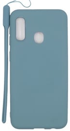 Evelatus Soft Touch Back Case With Strap For Samsung Galaxy A20e Blue