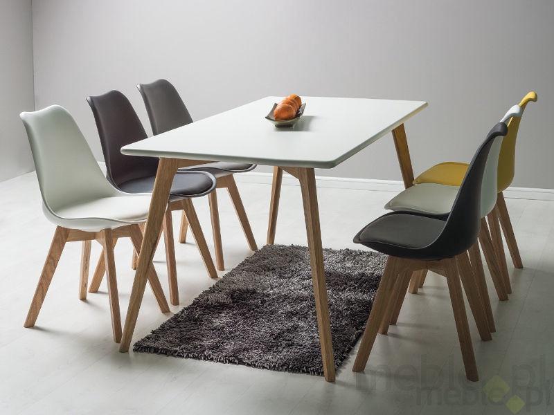 Обеденный стол Signal Meble Milan Oak/White, 1400x800x750 мм