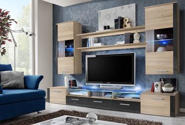 ASM Fresh Living Room Wall Unit Set Sonoma Oak/Graphite