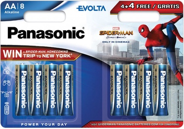 Panasonic Spiderman Evolta 4+4 x AA