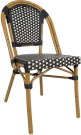 Home4you Bambus Garden Chair Black/Beige