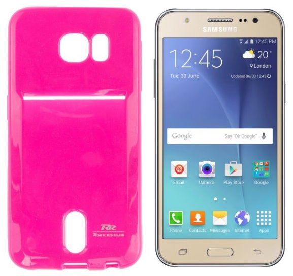 Roar Pocket Jelly Case For Samsung J500F Galaxy J5 Pink