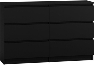 Kumode Top E Shop M6 Malwa 6 Drawers 120cm Black