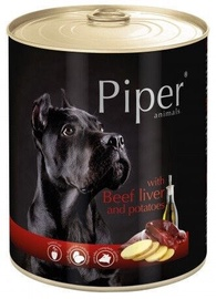 Dolina Noteci Piper Animals Wet Dog Food Beef Liver And Potatoes 800g