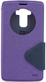 Roar Fancy Diary S-View Book Case For Apple iPhone 7 Purple/Blue