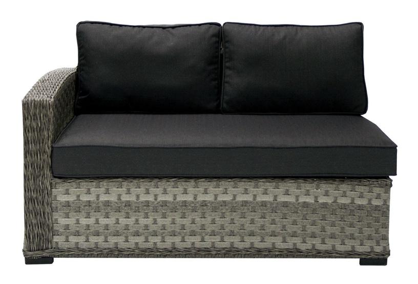 Садовый диван Home4you Geneva, серый, 132 см x 81 см x 78 см
