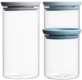 Brabantia Stackable Glass Jars Set 3pcs