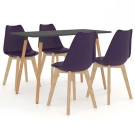 Ēdamistabas komplekts VLX 5 Piece Set 3056043, pelēks/violets