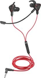 Игровые наушники Trust GXT 408 Cobra, черный/красный
