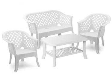 Āra mēbeļu komplekts Progarden Veranda, balts, 1-4 sēdvietas