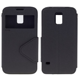 Roar Fancy Diary S-View Book Case For Samsung G313H Galaxy Ace NXT Black