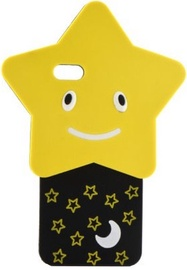 Forcell Soft 3D Star Back Case For Apple iPhone 6/6s Black/Yellow