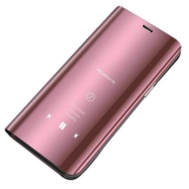 Apvalks Hurtel Clear View Case For Huawei Y5 2019 Pink