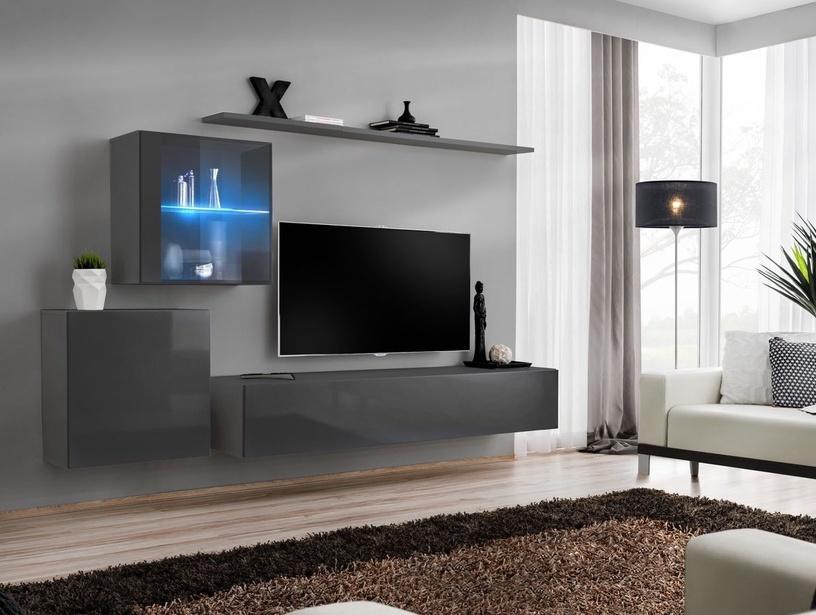 Dzīvojamās istabas mēbeļu komplekts ASM Switch XV Graphite