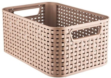 Curver Rattan Style Box M Light Brown
