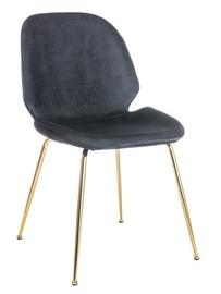 Ēdamistabas krēsls Signal Meble Adrien Black/Gold, 1 gab.