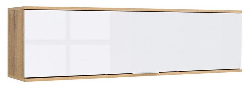 Black Red White Zele Shelf 135x37x31cm White
